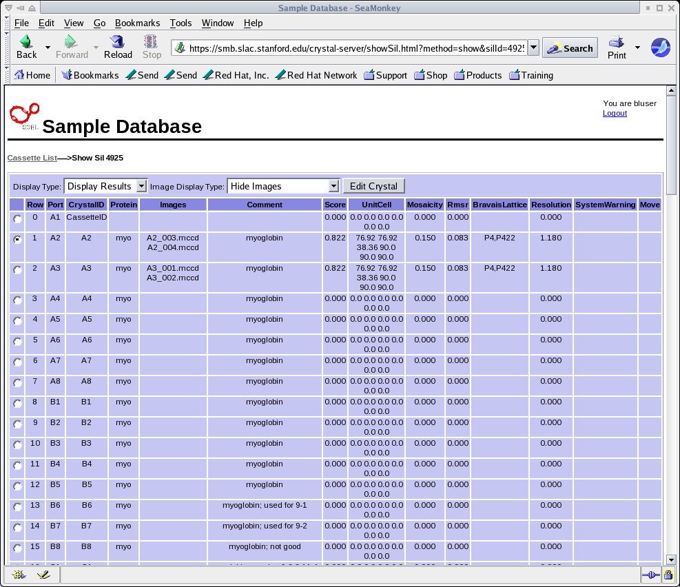 Figure 29: Editable HTML version of the spreadsheet.